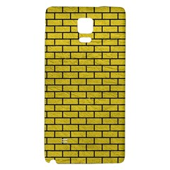 Brick1 Black Marble & Yellow Leather Galaxy Note 4 Back Case by trendistuff
