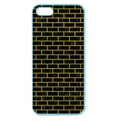 Brick1 Black Marble & Yellow Leather (r) Apple Seamless Iphone 5 Case (color) by trendistuff