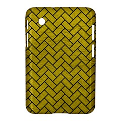 Brick2 Black Marble & Yellow Leather Samsung Galaxy Tab 2 (7 ) P3100 Hardshell Case  by trendistuff