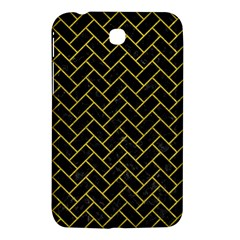 Brick2 Black Marble & Yellow Leather (r) Samsung Galaxy Tab 3 (7 ) P3200 Hardshell Case  by trendistuff