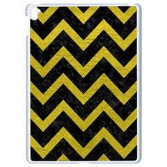 Chevron9 Black Marble & Yellow Leather (r) Apple Ipad Pro 9 7   White Seamless Case by trendistuff