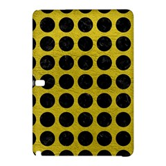 Circles1 Black Marble & Yellow Leather Samsung Galaxy Tab Pro 10 1 Hardshell Case by trendistuff