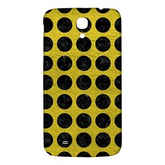 Circles1 Black Marble & Yellow Leather Samsung Galaxy Mega I9200 Hardshell Back Case by trendistuff