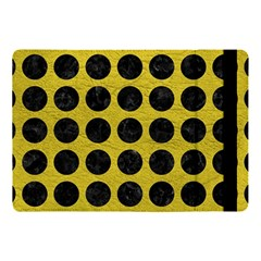 Circles1 Black Marble & Yellow Leather Apple Ipad Pro 10 5   Flip Case by trendistuff