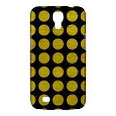 Circles1 Black Marble & Yellow Leather (r) Samsung Galaxy Mega 6 3  I9200 Hardshell Case by trendistuff