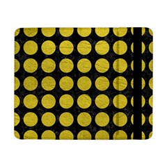 Circles1 Black Marble & Yellow Leather (r) Samsung Galaxy Tab Pro 8 4  Flip Case by trendistuff
