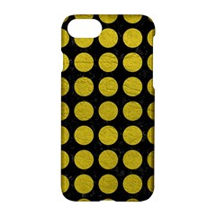 Circles1 Black Marble & Yellow Leather (r) Apple Iphone 8 Hardshell Case by trendistuff