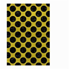 Circles2 Black Marble & Yellow Leather Small Garden Flag (two Sides) by trendistuff