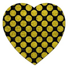Circles2 Black Marble & Yellow Leather (r) Jigsaw Puzzle (heart) by trendistuff
