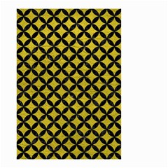 Circles3 Black Marble & Yellow Leather Small Garden Flag (two Sides) by trendistuff
