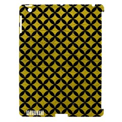 Circles3 Black Marble & Yellow Leather Apple Ipad 3/4 Hardshell Case (compatible With Smart Cover) by trendistuff