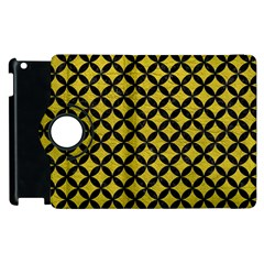 Circles3 Black Marble & Yellow Leather Apple Ipad 2 Flip 360 Case by trendistuff