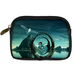 Cute Fairy Dancing On The Moon Digital Camera Cases by FantasyWorld7