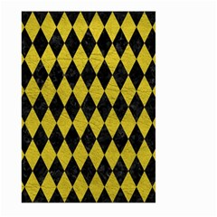 Diamond1 Black Marble & Yellow Leather Large Garden Flag (two Sides) by trendistuff