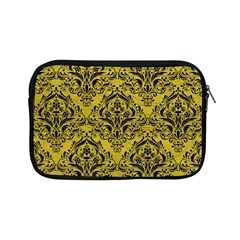 Damask1 Black Marble & Yellow Leather Apple Ipad Mini Zipper Cases by trendistuff