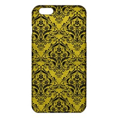Damask1 Black Marble & Yellow Leather Iphone 6 Plus/6s Plus Tpu Case by trendistuff