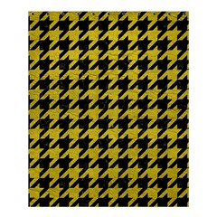 Houndstooth1 Black Marble & Yellow Leather Shower Curtain 60  X 72  (medium)  by trendistuff