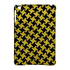 Houndstooth2 Black Marble & Yellow Leather Apple Ipad Mini Hardshell Case (compatible With Smart Cover) by trendistuff
