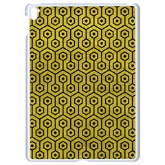 Hexagon1 Black Marble & Yellow Leather Apple Ipad Pro 9 7   White Seamless Case by trendistuff