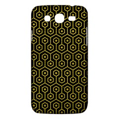 Hexagon1 Black Marble & Yellow Leather (r) Samsung Galaxy Mega 5 8 I9152 Hardshell Case  by trendistuff