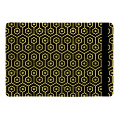 Hexagon1 Black Marble & Yellow Leather (r) Apple Ipad Pro 10 5   Flip Case by trendistuff