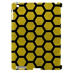 Hexagon2 Black Marble & Yellow Leather Apple Ipad 3/4 Hardshell Case (compatible With Smart Cover) by trendistuff
