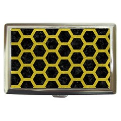 HEXAGON2 BLACK MARBLE & YELLOW LEATHER (R) Cigarette Money Cases