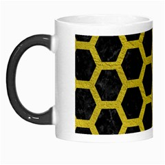 HEXAGON2 BLACK MARBLE & YELLOW LEATHER (R) Morph Mugs