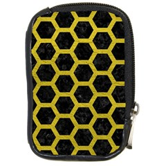 HEXAGON2 BLACK MARBLE & YELLOW LEATHER (R) Compact Camera Cases