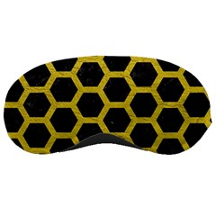 HEXAGON2 BLACK MARBLE & YELLOW LEATHER (R) Sleeping Masks