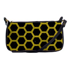 HEXAGON2 BLACK MARBLE & YELLOW LEATHER (R) Shoulder Clutch Bags