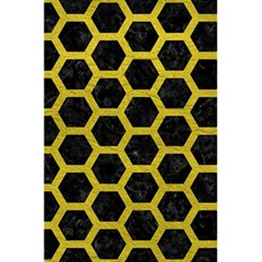 HEXAGON2 BLACK MARBLE & YELLOW LEATHER (R) 5.5  x 8.5  Notebooks