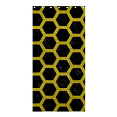 HEXAGON2 BLACK MARBLE & YELLOW LEATHER (R) Shower Curtain 36  x 72  (Stall)