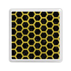 HEXAGON2 BLACK MARBLE & YELLOW LEATHER (R) Memory Card Reader (Square)
