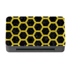 HEXAGON2 BLACK MARBLE & YELLOW LEATHER (R) Memory Card Reader with CF