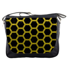 HEXAGON2 BLACK MARBLE & YELLOW LEATHER (R) Messenger Bags