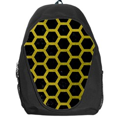 HEXAGON2 BLACK MARBLE & YELLOW LEATHER (R) Backpack Bag