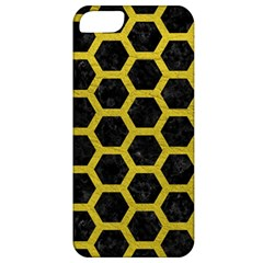 HEXAGON2 BLACK MARBLE & YELLOW LEATHER (R) Apple iPhone 5 Classic Hardshell Case