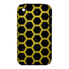 HEXAGON2 BLACK MARBLE & YELLOW LEATHER (R) iPhone 3S/3GS