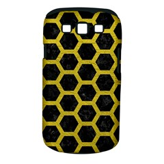 HEXAGON2 BLACK MARBLE & YELLOW LEATHER (R) Samsung Galaxy S III Classic Hardshell Case (PC+Silicone)
