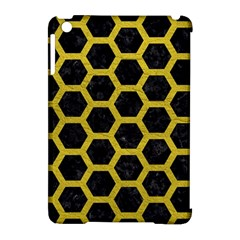 HEXAGON2 BLACK MARBLE & YELLOW LEATHER (R) Apple iPad Mini Hardshell Case (Compatible with Smart Cover)