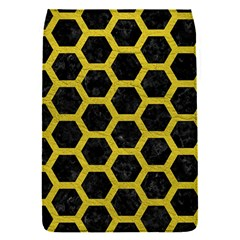 HEXAGON2 BLACK MARBLE & YELLOW LEATHER (R) Flap Covers (S)
