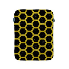 HEXAGON2 BLACK MARBLE & YELLOW LEATHER (R) Apple iPad 2/3/4 Protective Soft Cases