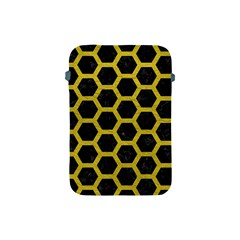 HEXAGON2 BLACK MARBLE & YELLOW LEATHER (R) Apple iPad Mini Protective Soft Cases