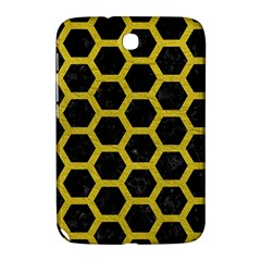 HEXAGON2 BLACK MARBLE & YELLOW LEATHER (R) Samsung Galaxy Note 8.0 N5100 Hardshell Case