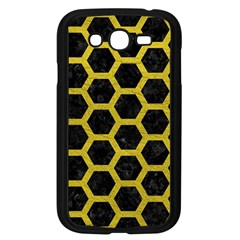 HEXAGON2 BLACK MARBLE & YELLOW LEATHER (R) Samsung Galaxy Grand DUOS I9082 Case (Black)