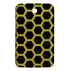 HEXAGON2 BLACK MARBLE & YELLOW LEATHER (R) Samsung Galaxy Tab 3 (7 ) P3200 Hardshell Case