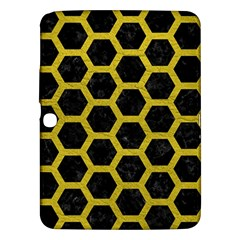 HEXAGON2 BLACK MARBLE & YELLOW LEATHER (R) Samsung Galaxy Tab 3 (10.1 ) P5200 Hardshell Case