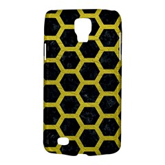 HEXAGON2 BLACK MARBLE & YELLOW LEATHER (R) Galaxy S4 Active