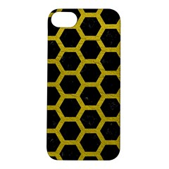 HEXAGON2 BLACK MARBLE & YELLOW LEATHER (R) Apple iPhone 5S/ SE Hardshell Case